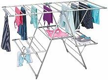 mDesign Wäscheständer in silber - ideal als