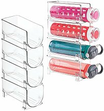 mDesign Wasserflaschenhalter aus Kunststoff,