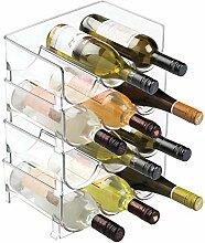 mDesign Weinständer - Stapelbarer Flaschenhalter