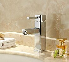 MDRW-Badezimmer-Accessoires im warmen und kalten wasserhahn, kupfer - becken wasserhahn, single - loch, warmen und kalten steppen, waschbecken square becken wasserhahn