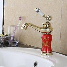 MDRW-Badezimmer-Accessoires kalt - und warmwasser tap, die europäischen kupfer - becken becken wasserhahn, jade kalt - heiß wasserhahn.
