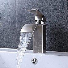 MDRW-Badezimmer-Accessoires waschbecken, warmen und kalten wasserhahn, 304 edelstählen drehen können heiß und kalt wasser, toilette wasserfall leader