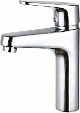 MDRW-Badezimmer Accessoires WasserhahnAlle Kupfer Einzelne Bohrung Tippen Sie Auf Einzelne Waschbecken Waschbecken Waschbecken Waschbecken Mit Kaltem Und Heißem Wasser, Tippen Sie Auf