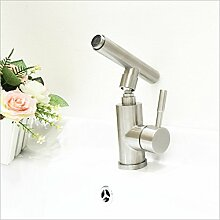 MDRW-Badezimmer-Accessoires (wasserhahn, einziges loch waschbecken wasserhahn, warmen und kalten wasserhahn, warmen und kalten waschbecken drachen, drehbaren wasserhahn