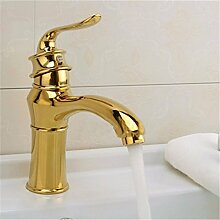 MDRW-Badezimmer-Accessoires (wasserhahn, kupfer europäischen stil wasserhahn, ein waschbecken und ein wasserhahn, waschbecken goldene wasserhahn