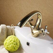 MDRW-Badezimmer Accessoires WasserhahnTippen Sie Auf Alle Messing Badezimmer Tippen Sie Auf Tippen Sie Auf Alle Messing Gold Golden Tippen