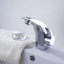 MDRW-Badezimmer Accessoires WasserhahnTippen Sie Auf Einzelne Bohrung Becken Becken Leitungswasser Badezimmer Tippen