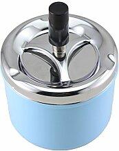 MDRW-Europäische Mode Hochwertiges Edelstahl Heimtextilien Tischdekoration 90 * 130 Cm Blau Home/Car praktischer Aschenbecher