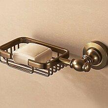 MDRW-Gebürstetes Aluminium Raum, Badezimmer, Vintage, bronze, Seife Boxen, Seife NET, kontinental, Bad-Accessoires, handgemachte Seife box