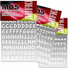 208 St/ück pk MDS Brand 2cm Zahlen Aufkleber 2cm, Weiss. Selbstklebend Peel