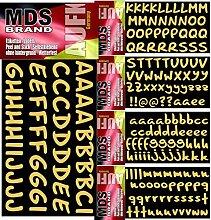 MDS Brand 2cm Schreibschrift Klebebuchstaben 5X