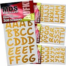 MDS Brand 3cm Schreibschrift Klebebuchstaben 5X