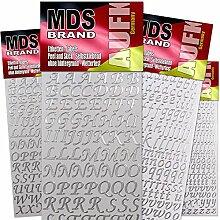 MDS Brand Klebebuchstaben 4X Groß &