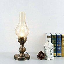 MDSKIW Tischlampe Petroleumlampe Glas Lampenschirm