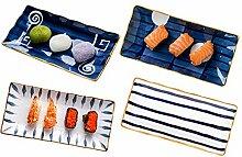 MDZF SWEET HOME Porzellan Sushi-Teller,