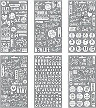 Me & My Big Ideas Aufkleber Pocket Seiten Klar 6sheets-baby Mädchen