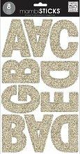 Me & My Big Ideas groß Glitter Alphabet Aufkleber, Gold