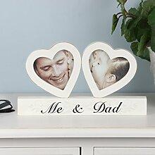 Me und Dad Herz Foto Rahmen Display–Eine Geschenkidee für Ihn oder A Special Daughter–Our Grandparents 27x 15x 2cm