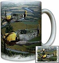 Me109 Galland Luftwaffe Deutschland Jagdflugzeug Me 109 Jäger Pilot Farb Foto - Tasse Kaffee Becher #10404 T