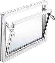 MEA 60 cm Breite untersch. Höhen Einfach-Glas Kellerfenster Kippfenster weiß, Größe Kippfenster:60 x 50 cm