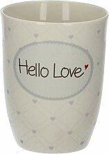 Mea Living Henkelbecher Porzellan Hello Love