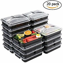 Meal Prep Container [20er-Pack] 3 Fächer