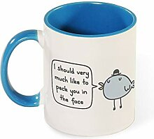 Mean Bird Travel Best Funny Coffee Mug Sarcastic