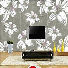 Meaosy 3D Hand Gezeichnete Blumen Tapete Für