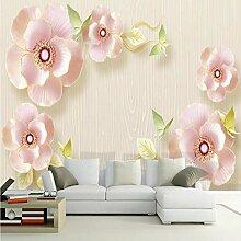 Meaosy 3D Relief Schmuck Blumen Tapete Für