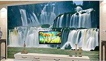 Meaosy 3D Wallpaper Wasserfall 3D Fototapete Für