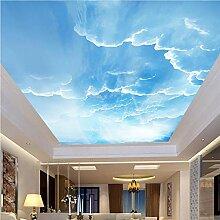 Meaosy 3D Wandbild Himmel Weiße Wolken