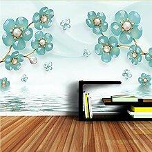 Meaosy Benutzerdefinierte Floral Tapeten Tapete