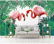 Meaosy Blumen-Flamingo Des Hintergrundes Der
