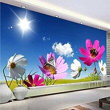 Meaosy Fantasie-Chrysantheme-Blumen-Fototapete 3D