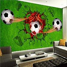 Meaosy Fototapete Moderne 3D Stereo Fußball Grün