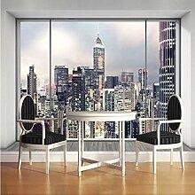 Meaosy Kundengebundene Größe 3D Fenster New York