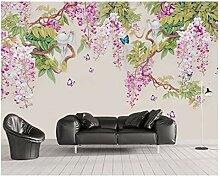 Meaosy Modern Gemälde handgemaltes Glicine Blumen