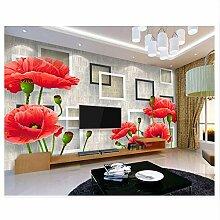 Meaosy Tapete Für Wände 3 D Mode Rote Blumen