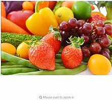 Meaosy Tapete Für Wände 3 D, Strawberry Fruit
