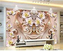 Meaosy Tapete Für Wohnzimmer 3D Phalaenopsis Tv