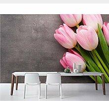 Meaosy Tulpen Rosa Farbe Blumen Fototapete