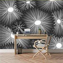Meaosy Wandbild Rolls Schwarz Weiß Fototapete