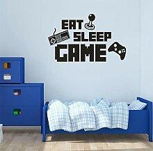 Meaosyy Eat Sleep Spiel Aufkleber Gaming Vinyl