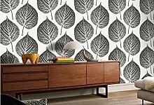 Meaosyy Moderne Tapete Für Wände Blätter Muster