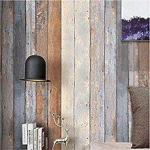 Meaosyy Vintage Holz Tapete Für Wände 3D 0.53M *