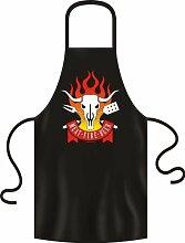 Meat fire beer BBQ Grill Fun Spruch Grillschürze