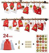 Meatyhjk 24 Stück/Set Adventskalender Füllen