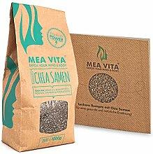 MeaVita Chia Samen 1kg + Rezeptesammlung