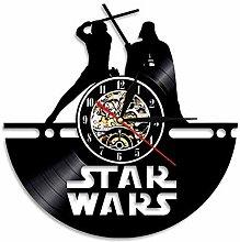 mebeaty Schallplatte Uhr Star Wars Form Muster