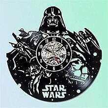 mebeaty Star Wars hält Vinyl-Vinyl-Rekord Wanduhr